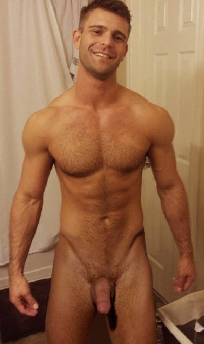 Sexy hairy naked man