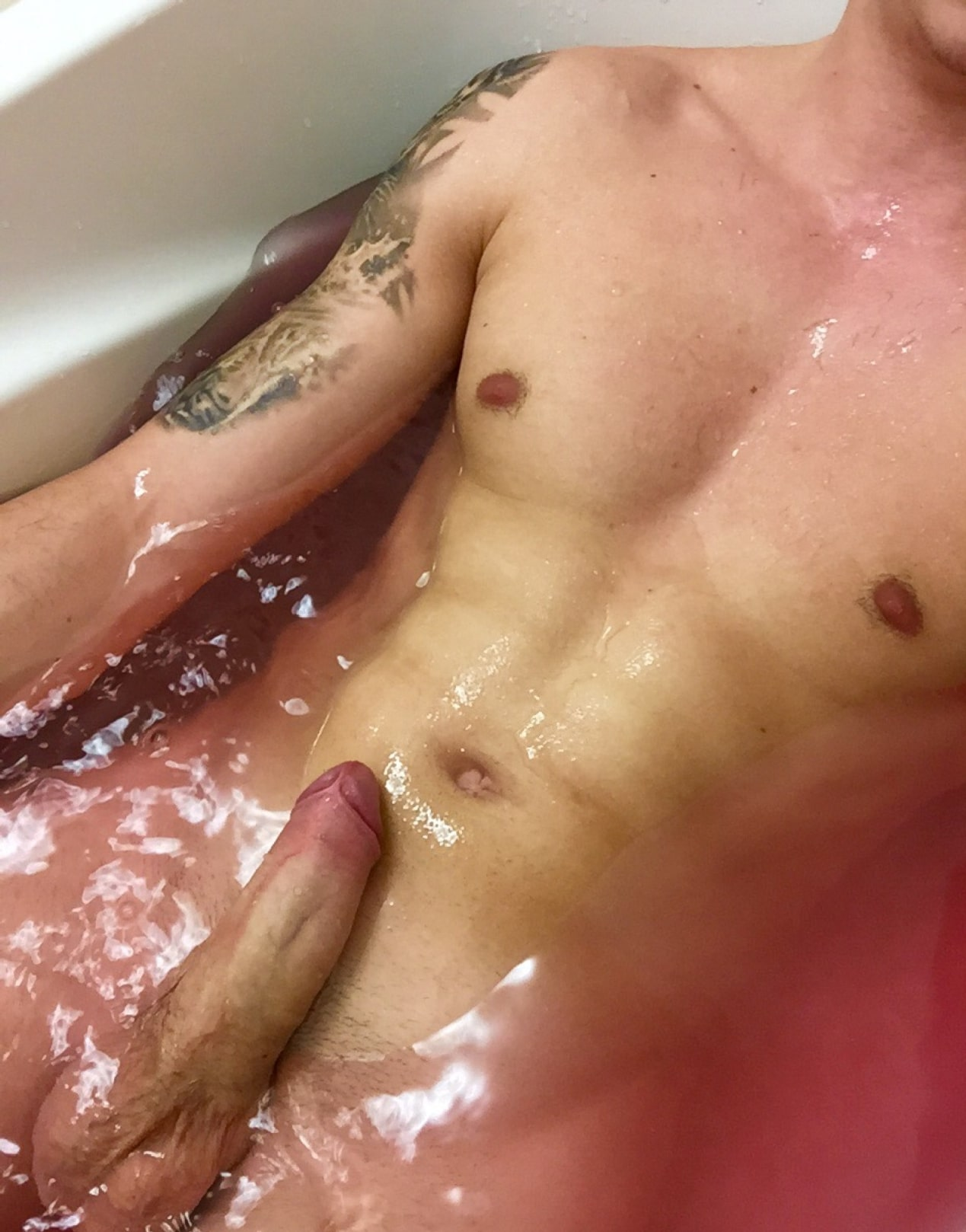 Nude Hunk Bathtub